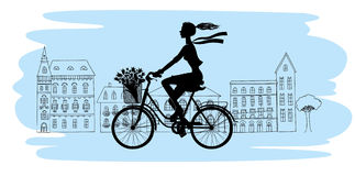 bicycle-silhouette-girl-rides-36637334